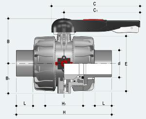 Шаровый кран промышленного применения с втулочным окончанием (VKDDV)