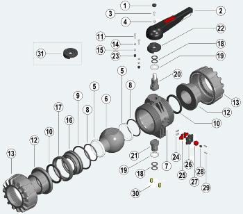 Шаровый кран промышленного применения с муфтовым окончанием (VKDIV)