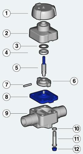 Мембранный клапан с муфтовым окончанием