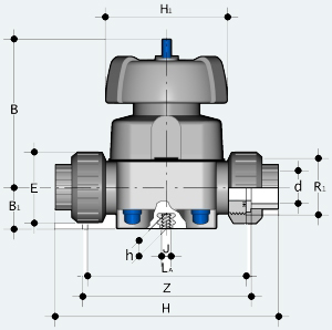 Мембранный клапан с муфтовым окончанием (VMUIV)
