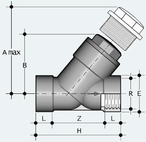 Обратный клапан ПВХ с внутренней резьбой (VRFV)