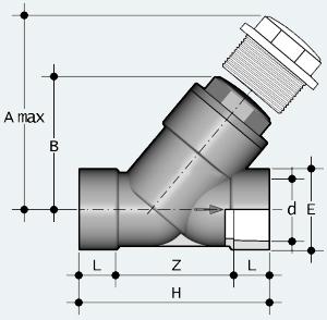 Обратный клапан ПВХ с муфтовым окончанием (VRIV)