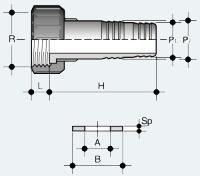 Шланговый переходник ПВХ с гаечным окончанием (ADV)