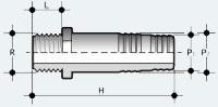 Шланговый переходник ПВХ с наружней резьбой (AFV)