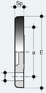 Глухой фланец с зубчатой поверхностью (FCV)