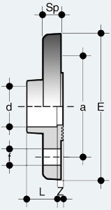 Соединение фланцевое жесткое PN 10/16 (FDV)