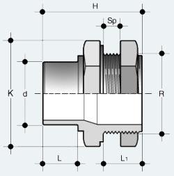 Фитинг ПВХ для соединения с цистерной (LIV)