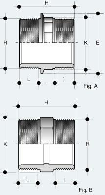 Ниппель ПВХ с наружней резьбой (NFV)