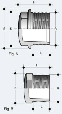 Заглушка ПВХ с наружней резьбой (PFV)