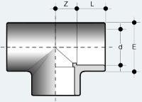 Тройник равносторонний ПВХ (TIV)