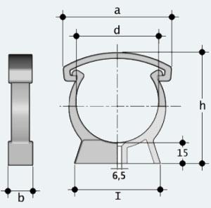Трубный держатель пластиковый (ZIKM)